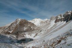 Frozen lake. In winter, Slovenia, Julian Alps royalty free stock photos