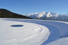 Frozen lake Stock Image
