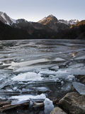Frozen Lake. In the Spanish Pyrenees Stock Photography