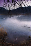 Frozen lake Stock Images