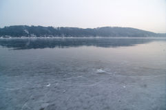 Frozen lake Stock Photography