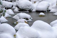 Frozen lake. A surface of frozen lake Stock Photography