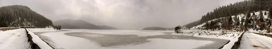 Frozen lake Stock Image