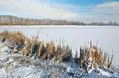 Frozen lake Royalty Free Stock Photos