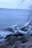 Frozen lake. In Wisconsin royalty free stock images
