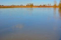 Frozen lake Royalty Free Stock Image
