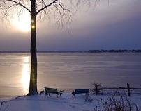 Free Frozen Lake At Dawn Stock Photos - 17599913