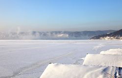 Frozen Lake Baikal Stock Photos