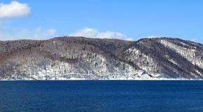 Frozen Lake Baikal Royalty Free Stock Photography