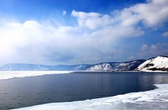 Frozen Lake Baikal Royalty Free Stock Image