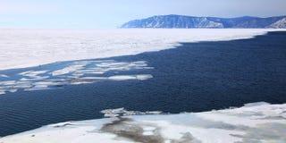 Frozen Lake Baikal Stock Photography