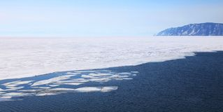 Frozen Lake Baikal Royalty Free Stock Image