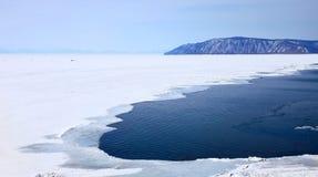 Frozen Lake Baikal Stock Photo