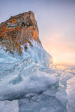 Frozen Lake Baikal. Cold -30 degrees,winter ,baikal , russia Stock Images
