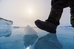 Frozen Lake Baikal Royalty Free Stock Images