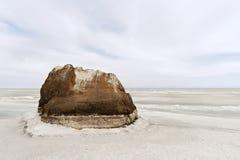 Frozen Lake Baikal in winter Stock Photography