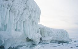Frozen Lake Baikal. Winter. Royalty Free Stock Image