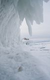 Frozen Lake Baikal. Winter. Royalty Free Stock Photo