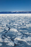 Frozen Lake Baikal. Winter. Royalty Free Stock Images