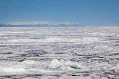 Frozen Lake Baikal. Winter. Stock Image