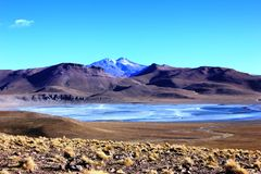 Frozen Lake Bolivia Stock Photography