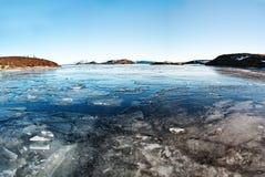 Frozen lake, captured in Iceland Stock Image