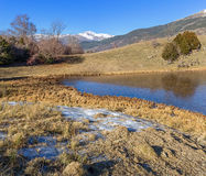 Frozen lake in the catalan Pyrenees Stock Photo