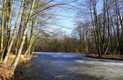 Frozen lake Stock Photos