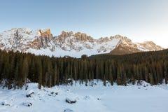 Frozen lake, Dolomites, Italy, 2013 Royalty Free Stock Image