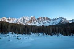 Frozen lake, Dolomites, Italy, 2013 Stock Photography