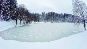 Frozen lake stock footage