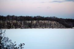 Frozen lake in Hokkaido royalty free stock photo