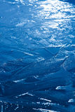 Frozen lake ice crystal surface texture Stock Photography