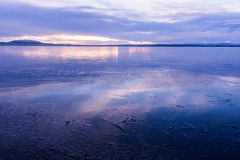 Frozen lake in Iceland, Myvatn Stock Photo