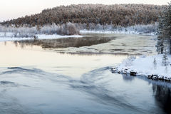 Frozen Lake in Inari, Finland Stock Photography