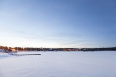 Frozen Lake Inari, Inari, Finland Stock Photography