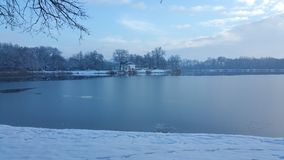 Frozen lake Royalty Free Stock Images