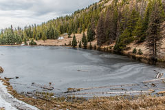 Frozen Lake. Lake Irene frozen over in Rocky Mountain National Park Royalty Free Stock Photography