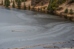 Frozen Lake. Lake Irene frozen over in Rocky Mountain National Park Royalty Free Stock Photos