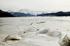 Frozen lake in Italy Stock Photos