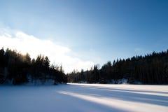 Frozen Lake Landscape Royalty Free Stock Photos