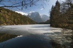 Frozen Lake Landscape, Austria Royalty Free Stock Image