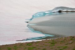 Frozen lake melting, detail Royalty Free Stock Image