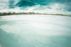 Frozen lake in MI Royalty Free Stock Images