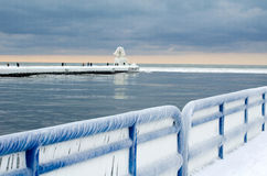 Frozen on lake michigan Royalty Free Stock Photography