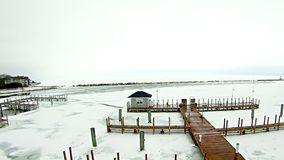 Free Frozen Lake Michigan Near Petoskey Waterfront Marina Royalty Free Stock Photo - 89753505