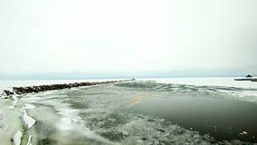 Free Frozen Lake Michigan Near Petoskey Waterfront Marina Stock Photos - 89753553