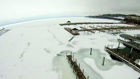 Free Frozen Lake Michigan Near Petoskey Waterfront Marina Stock Photo - 89753900