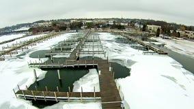 Free Frozen Lake Michigan Near Petoskey Waterfront Marina Stock Photo - 89755870