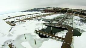 Free Frozen Lake Michigan Near Petoskey Waterfront Marina Stock Photos - 89767873